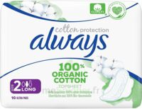ALWAYS SERVIETTE COTTON PROTECTION LONG+ X10 à Toulouse