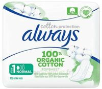 ALWAYS SERVIETTE COTTON PROTECTION NORMALE+ X12 à Toulouse